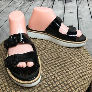 EUC 9 Black Slides Sandals BCBGeneration